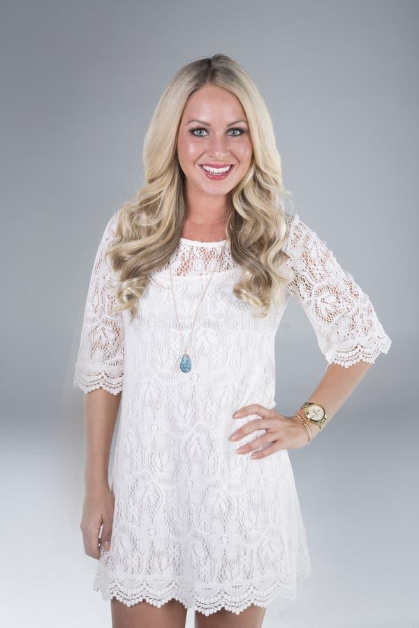 Download Beautiful Blonde Girl Smiling Stock Image - Image: 32384641