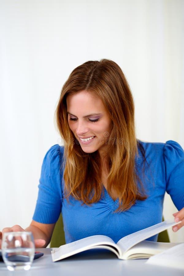 Download Beautiful Blonde Girl Studying Stock Photo - Image: 25289568