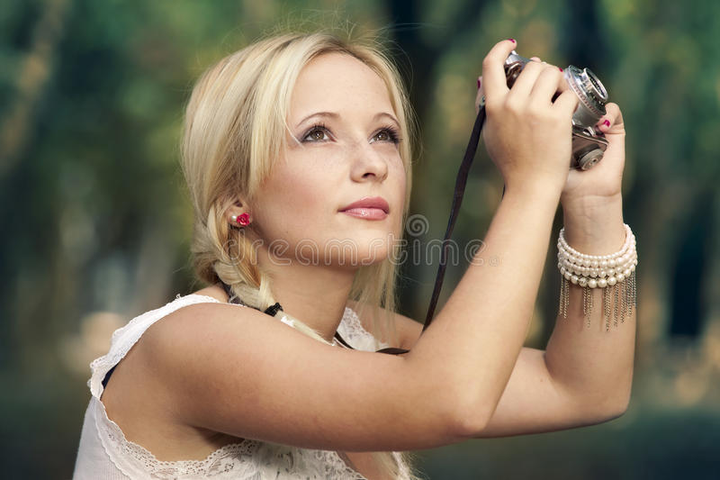 Beautiful blonde girl stock photography
