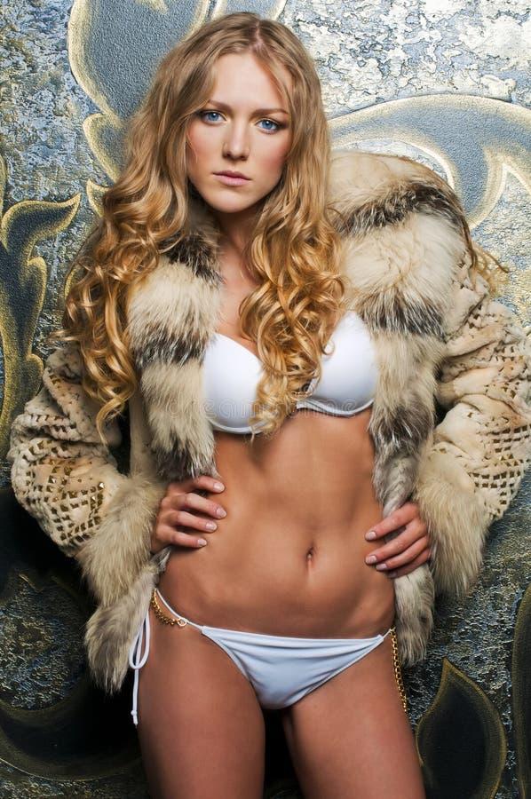 Free Beautiful Blonde In Fur Jacket Stock Photos - 15093173