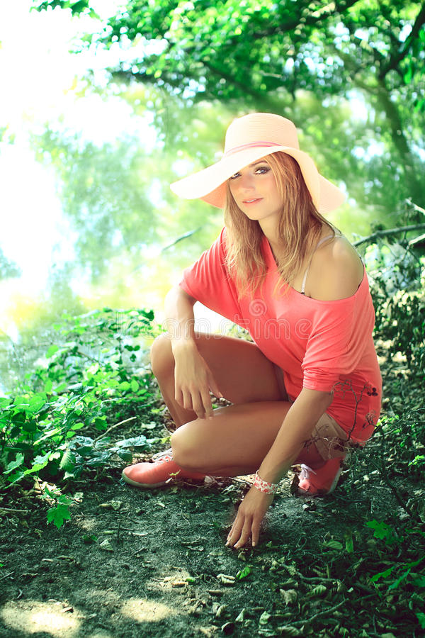 Download Beautiful  Blonde In A Nature Stock Image - Image: 33729017
