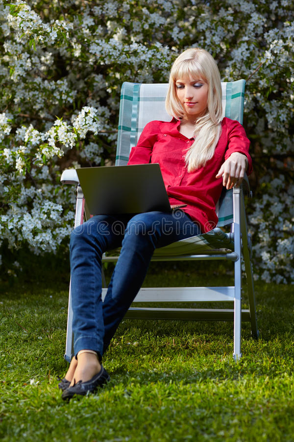 Download Beautiful blonde outdoors stock image. Image of browse - 19882839