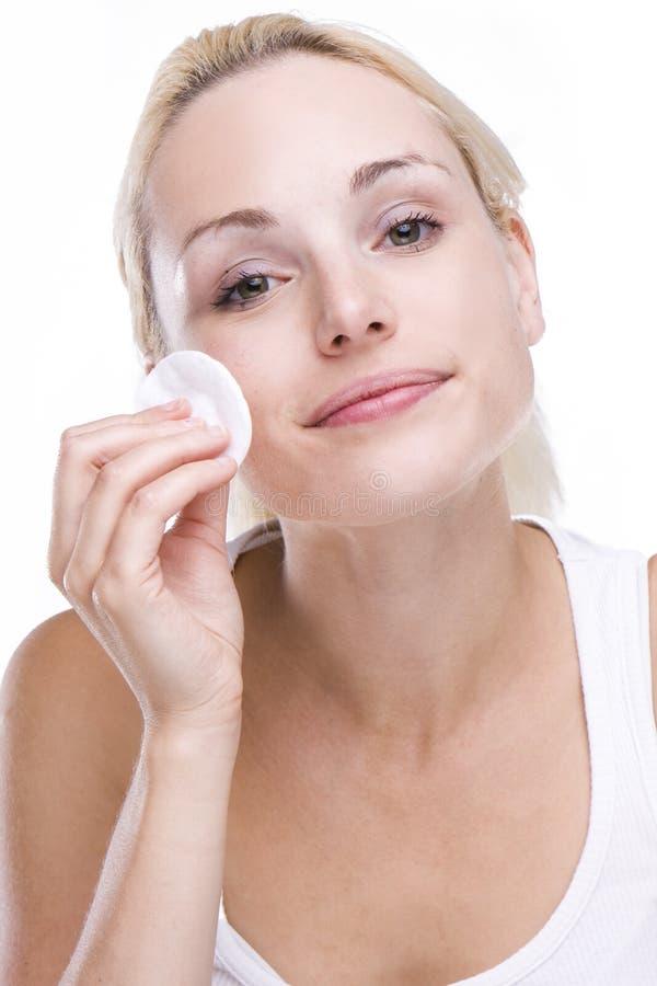 Free Beautiful Blonde Removing Make-up Royalty Free Stock Image - 10430646