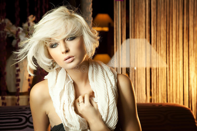 Download Beautiful Blonde With Scarf Stock Images - Image: 17985054