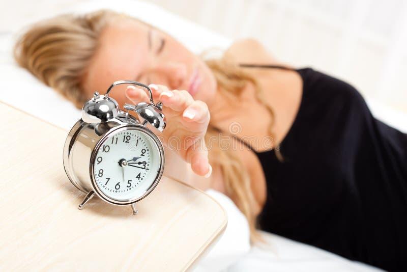 Beautiful blonde sleeping royalty free stock images