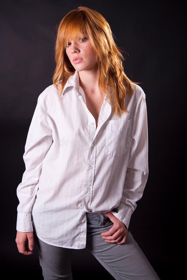 Beautiful blonde teen girl royalty free stock photography
