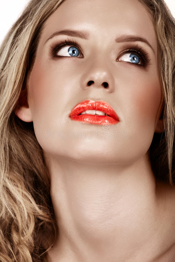 Beautiful blonde woman royalty free stock images