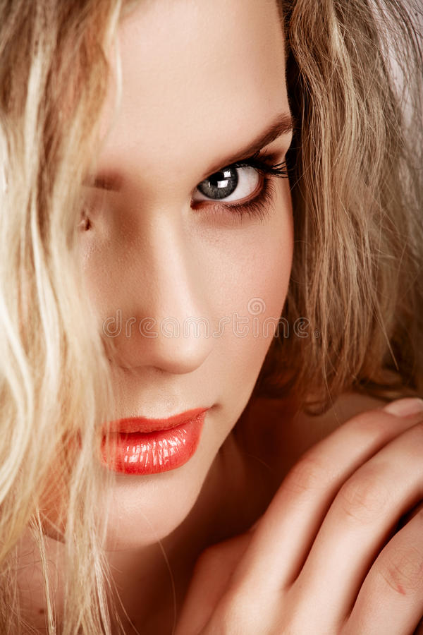 Beautiful blonde woman stock photography