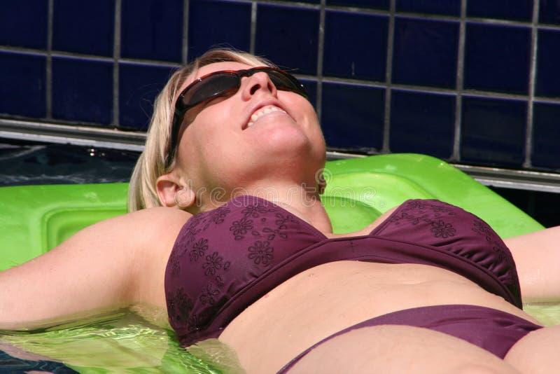 Beautiful Blonde woman in bikini royalty free stock photos