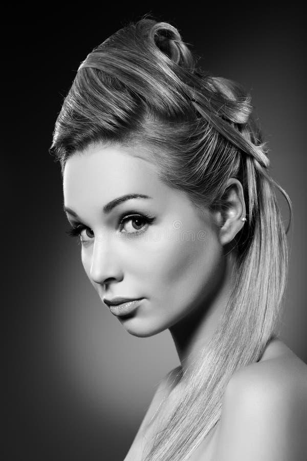 Download Beautiful blondy stock image. Image of indoors, dark - 23724555