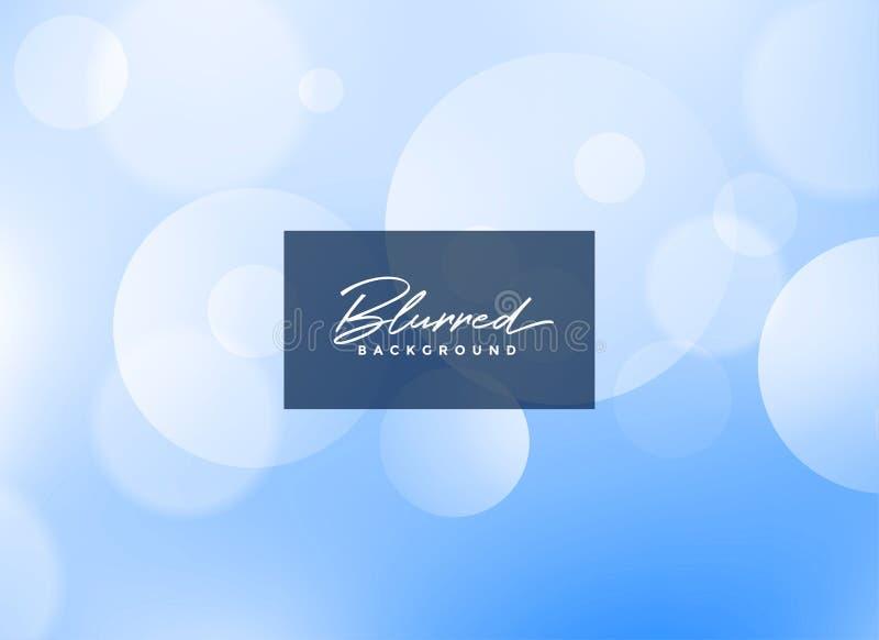 Beautiful blue blurred bokeh background stock illustration