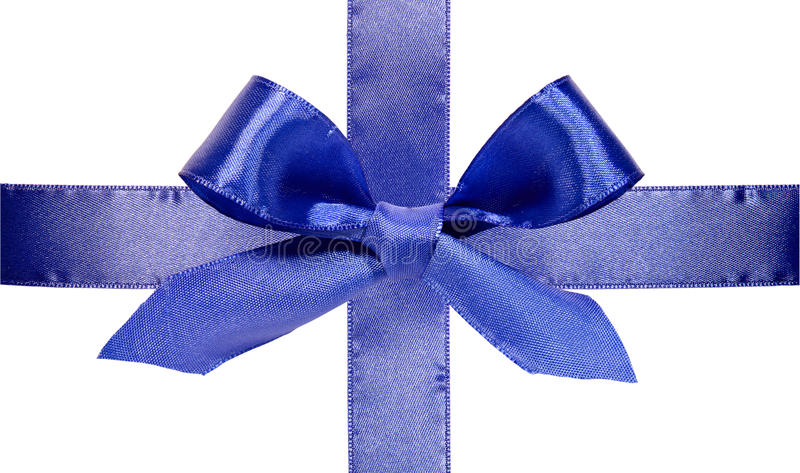 Download Beautiful blue bow stock image. Image of image, silk - 16652969
