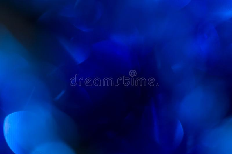 Beautiful blue Christmas bokeh. background royalty free stock photo