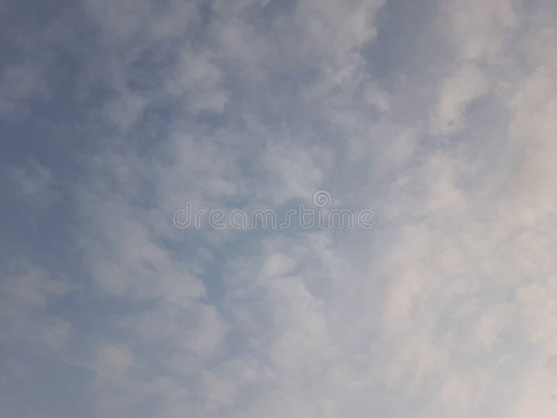Beautiful blue cloudy sky stock photos