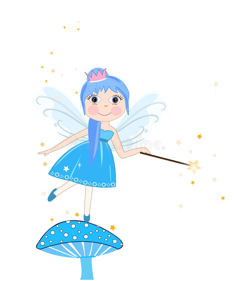 Free Beautiful Blue Fairy Girl Vector Royalty Free Stock Photos - 59684828