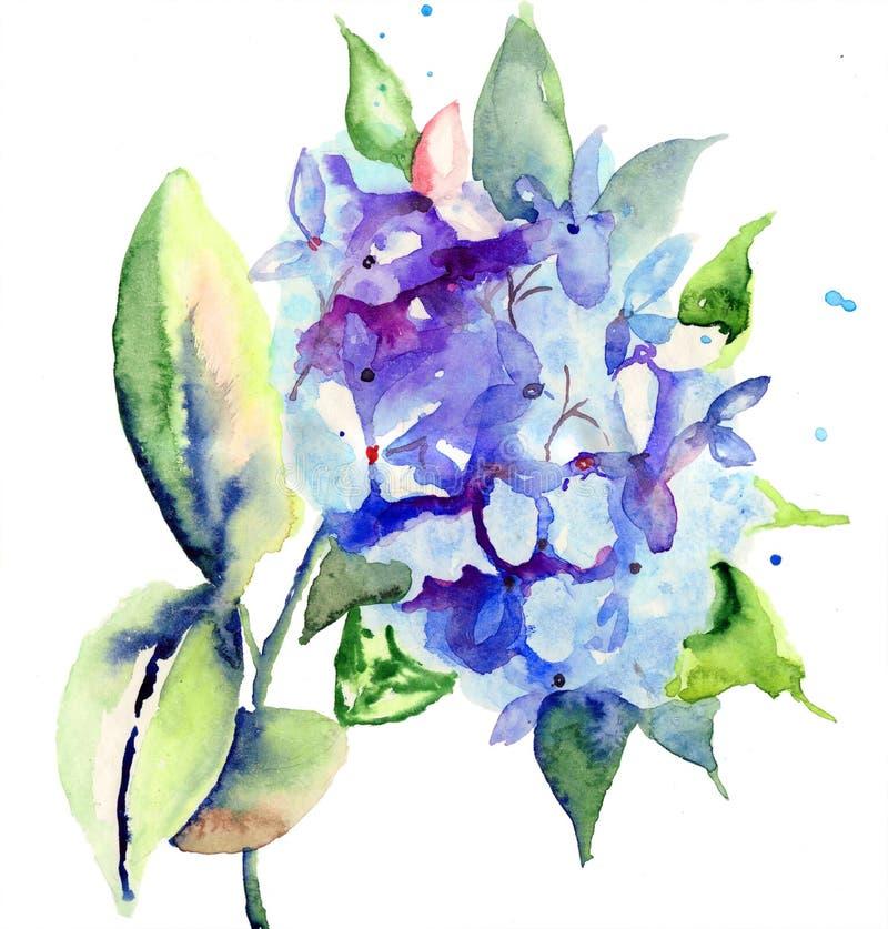 Download Beautiful blue flowers stock illustration. Illustration of botanical - 28336209