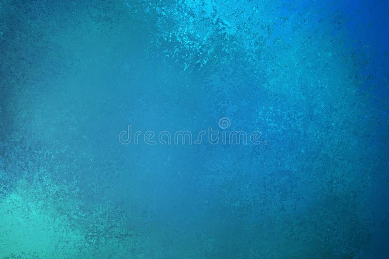 Beautiful blue green background illustration with textured vintage grunge deisng with light and dark teal blue colors and paint royalty free illustration