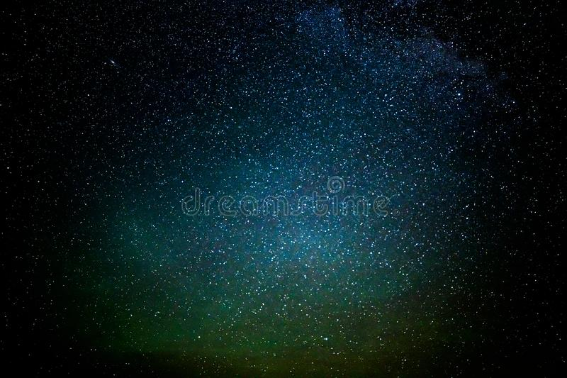 Evening sky of immense bright stars in the sky stock photography