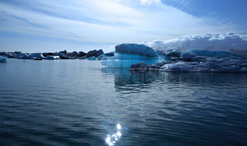 Beautiful blue iceberg stock photos