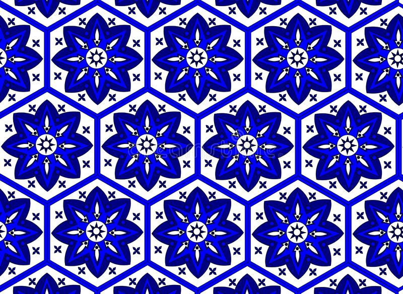 Beautiful pattern oriental decoration carpet style royalty free illustration