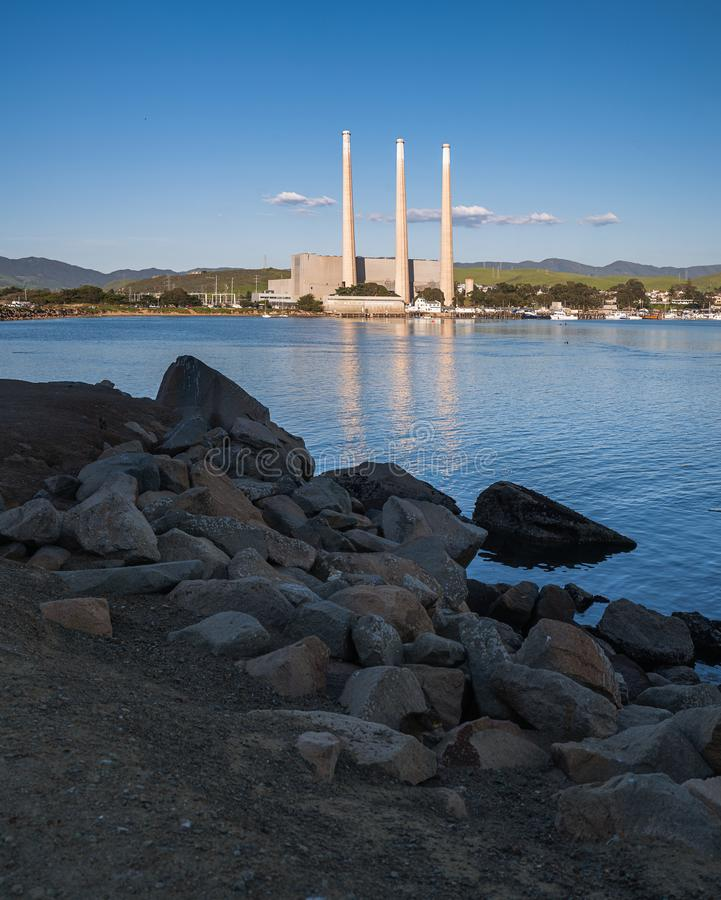 Welcome to Morro Bay, California royalty free stock photography