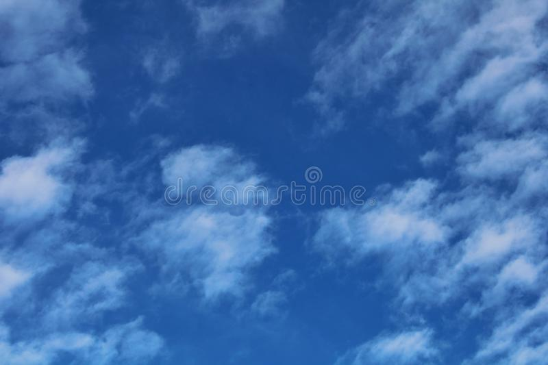 Beautiful blue skies with cloud. Abstract, background, design, web, environment, e, natural stock images