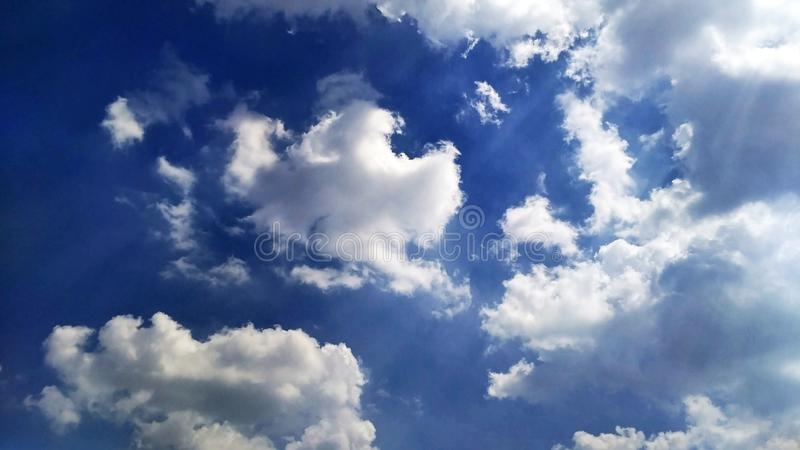 Bright clouds in Jakarta royalty free stock photography
