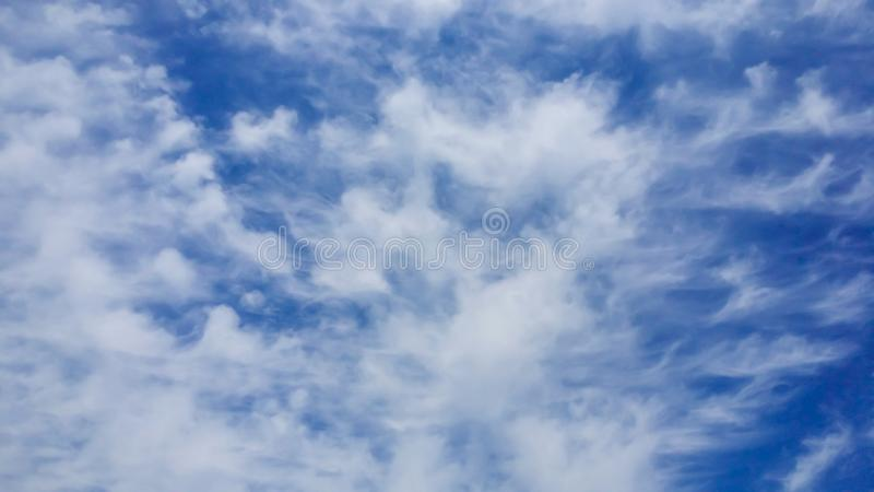 Beautiful blue sky in the afternoon, background royalty free stock photos