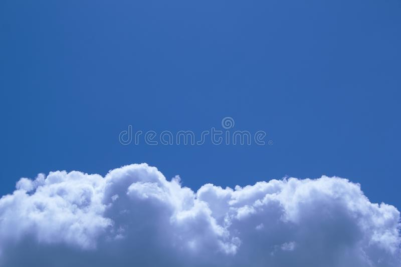 Beautiful blue sky background with cloud border. Beautiful blue sky background with white cloud border stock photos