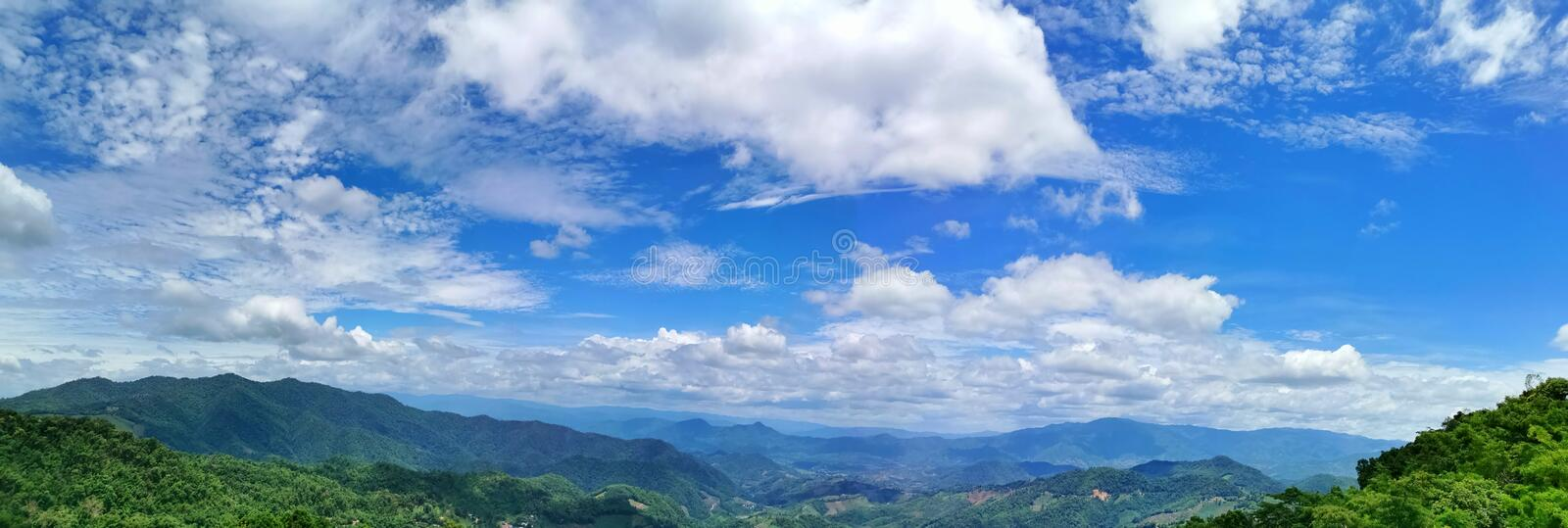 Beautiful blue sky background. Summer, sunny, sunshine, view, white, , , morning, drink, , fresh, clouds, greenmountain, clear royalty free stock image