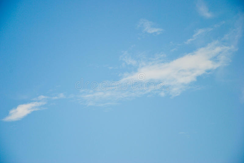 Beautiful Blue Sky Background With Tiny Cloud and Some Space for Input Text Message royalty free stock photo