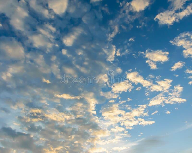 Beautiful blue sky background royalty free stock photos