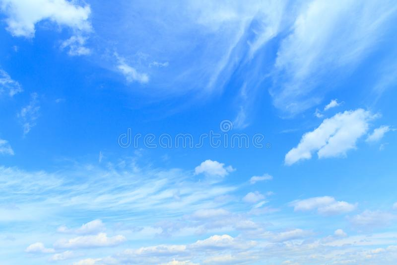 Beautiful blue sky. With the clouds royalty free stock photography