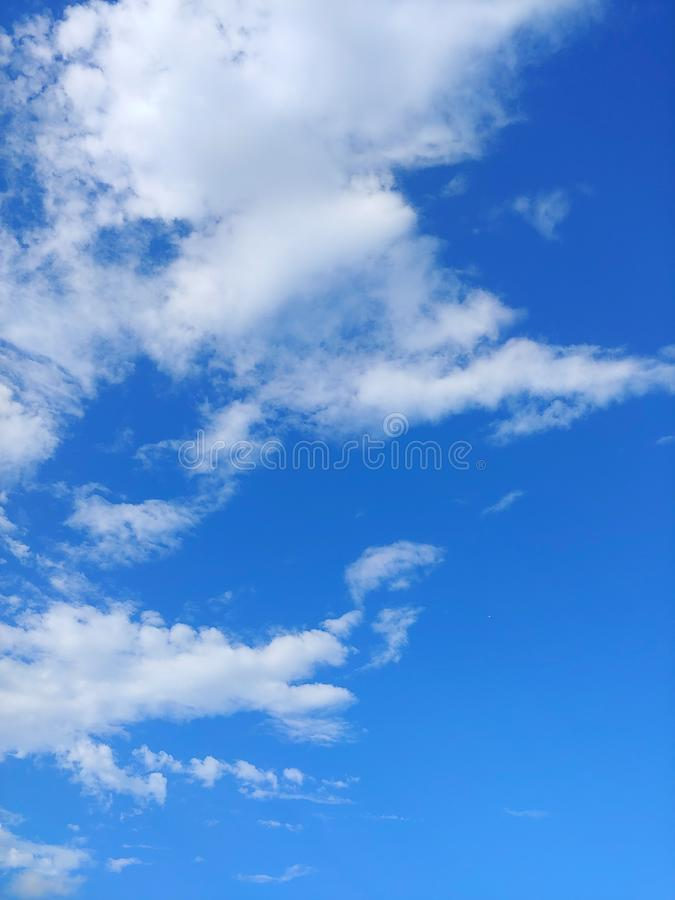 Beautiful blue sky. Beautiful blue sky with white clouds royalty free stock photo