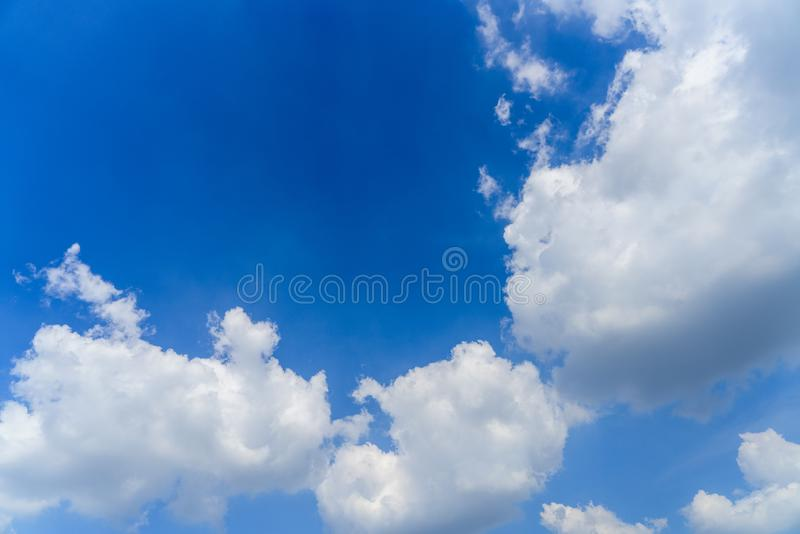 A beautiful blue sky stock photography
