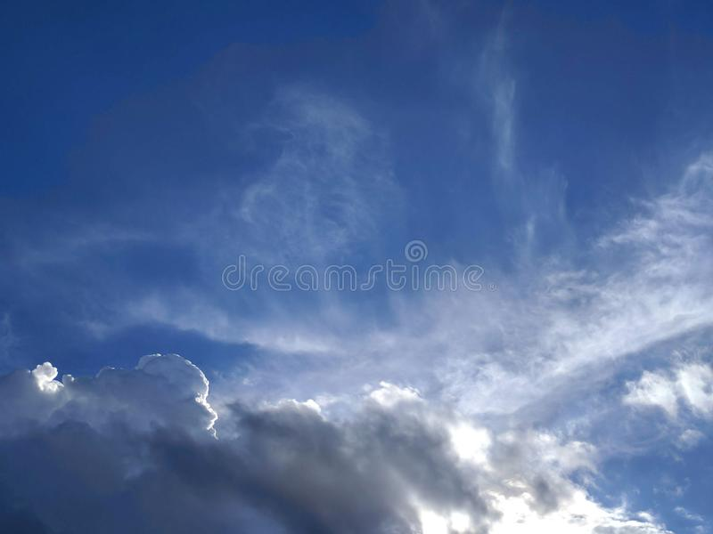 Beautiful blue sky with cloud. Image royalty free stock photography