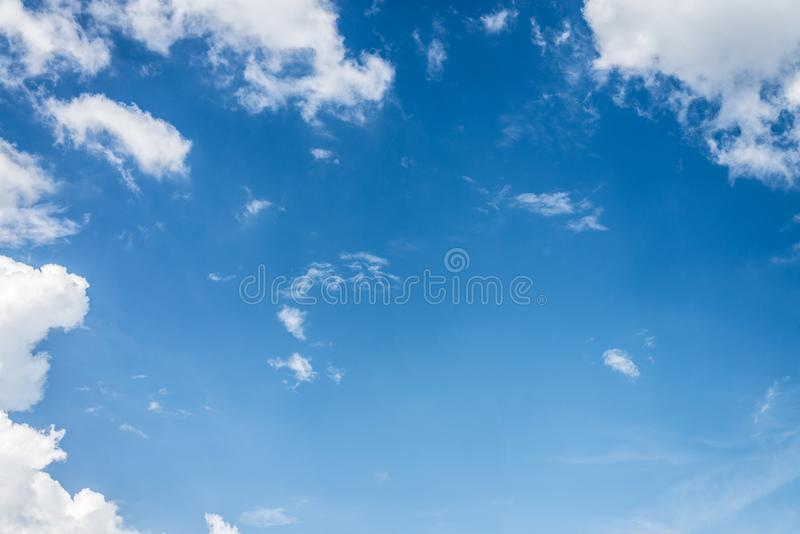 Beautiful blue sky with cloud and copy space royalty free stock photo