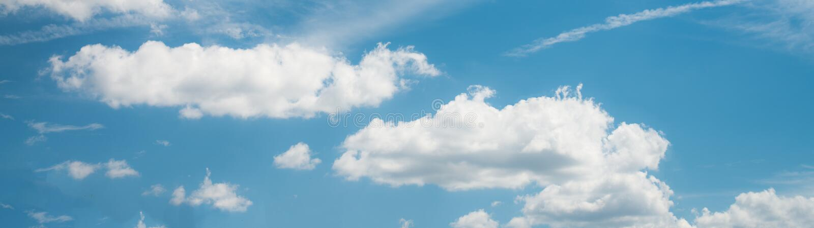 Beautiful blue sky with cloud and copy space royalty free stock image
