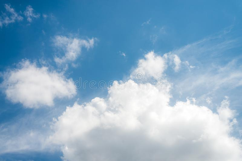Beautiful blue sky with cloud and copy space royalty free stock photos
