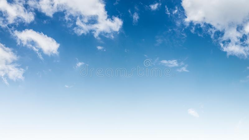Beautiful blue sky with cloud and copy space stock images