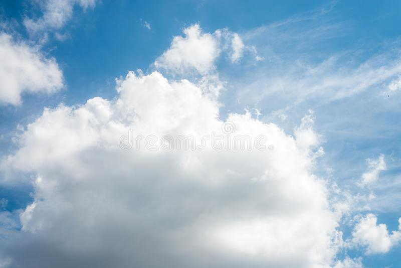 Beautiful blue sky with cloud and copy space stock photos