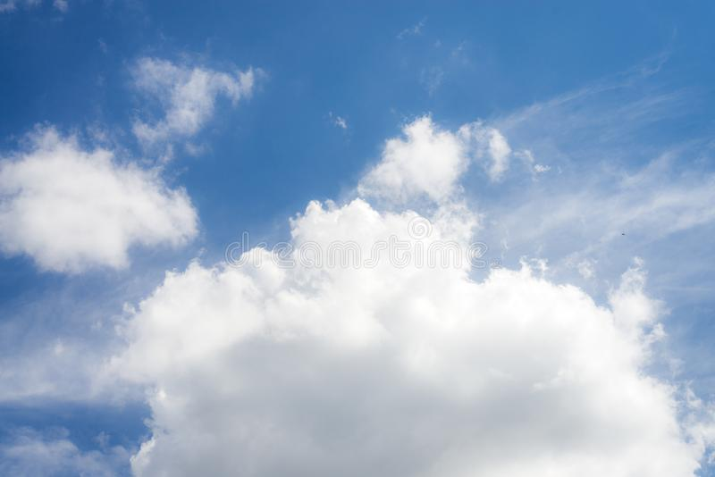 Beautiful blue sky with cloud and copy space royalty free stock images