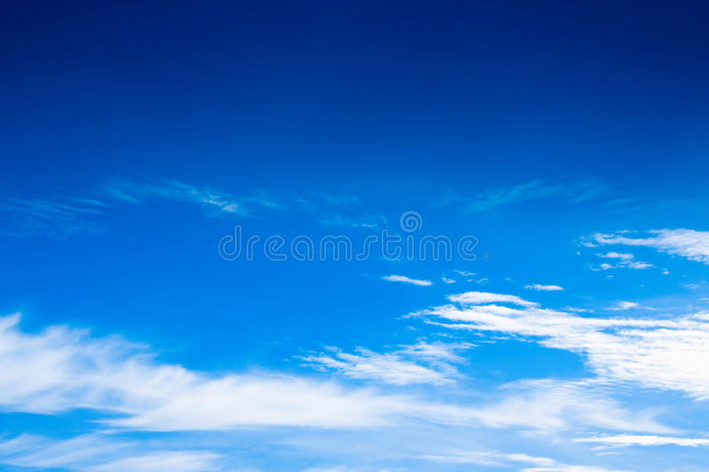 Beautiful blue sky with cloud with copy space royalty free stock photo