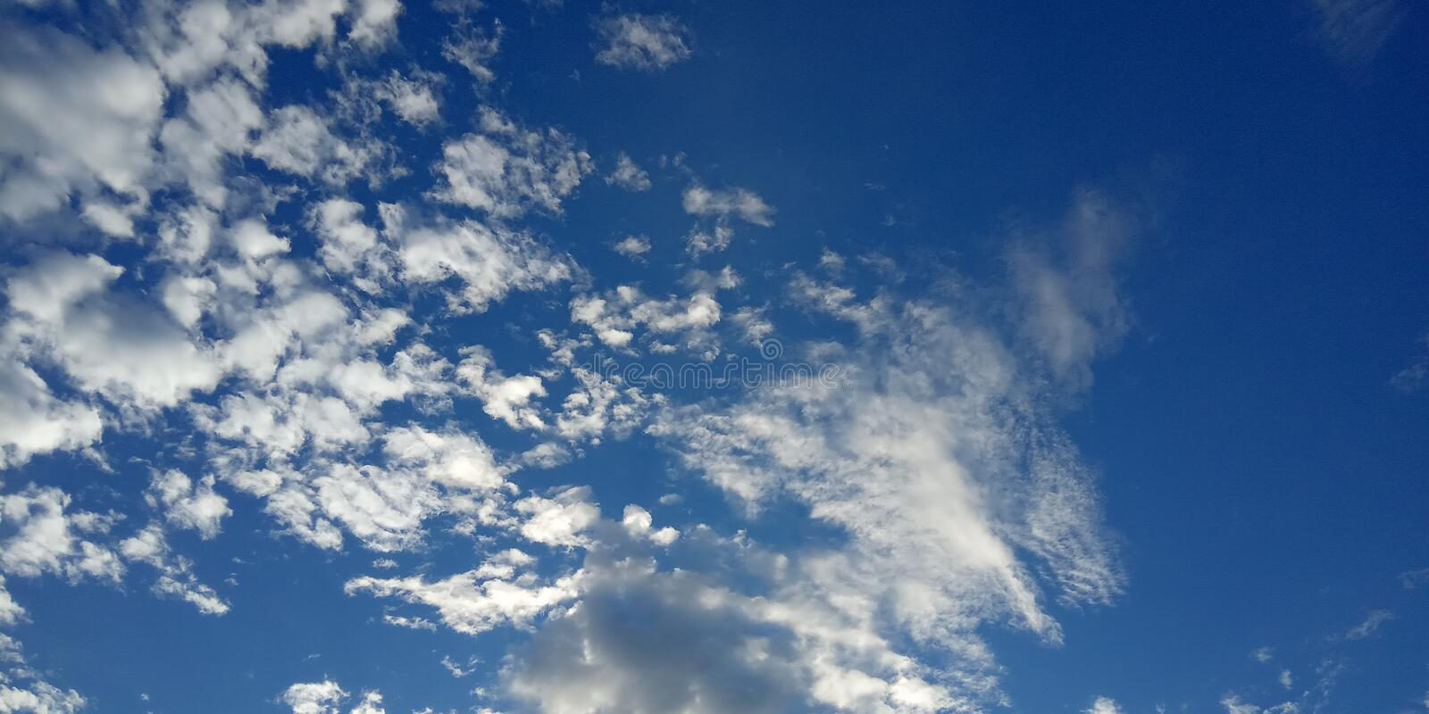 Beautiful Blue Sky with cloud in the morning. Simply Beautiful Blue Sky with cloud in the morning stock photo