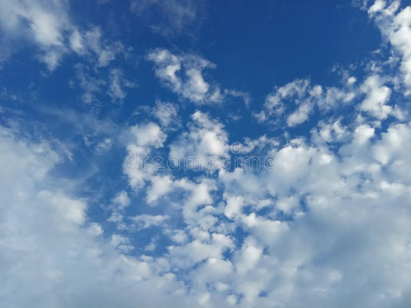 Beautiful Blue Sky with cloud in the morning. Simply Beautiful Blue Sky with cloud in the morning stock images