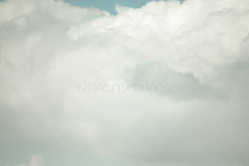 BEAUTIFUL BLUE SKY CLOUD OF SUMMER stock image
