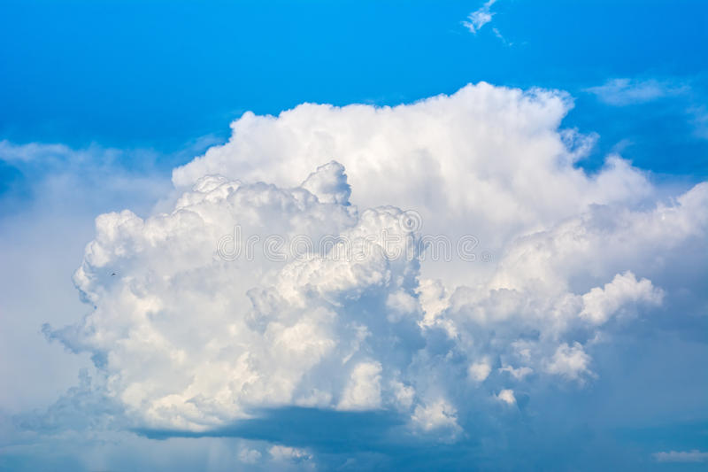 Beautiful blue sky with clouds. Abstract background stock photo