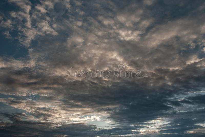 Beautiful blue sky with clouds background. The softness of the clouds and the brightness of the sky. Light blue background. Relaxing feeling and inspirational royalty free stock photo