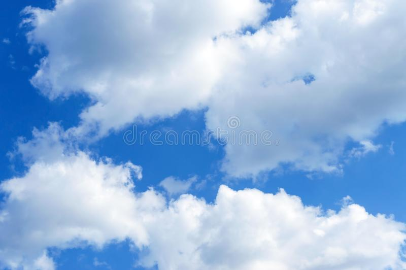 Beautiful blue sky with clouds. Cloudy sky in good weather stock image