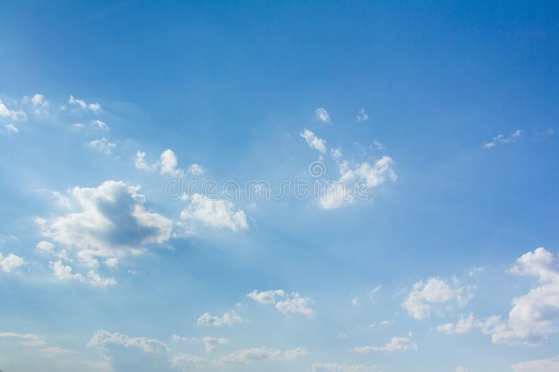 Beautiful blue sky and clouds royalty free stock photos